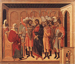 Duccio di Buoninsegna - Christ before Annas.jpg
