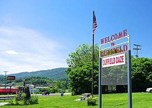 Duffield, Virginia - Welcome sign in Duffield