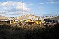 Dumper trucks behind Thwaites factory - geograph.org.uk - 1567652.jpg