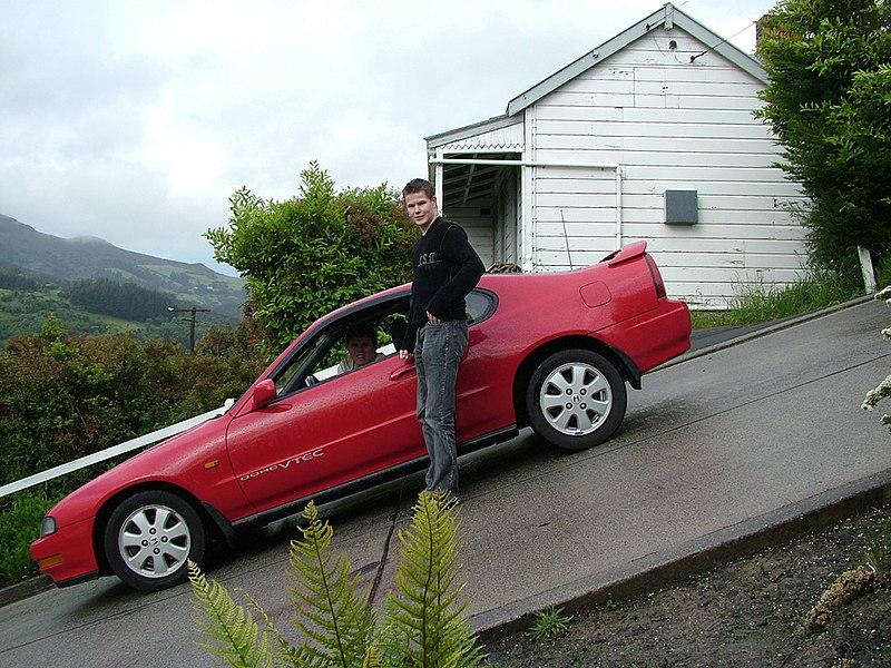 Image:DunedinBaldwinStreet Parked Car.jpg