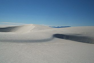 White Sands National Monument - Image: Dunes as White Sands NM