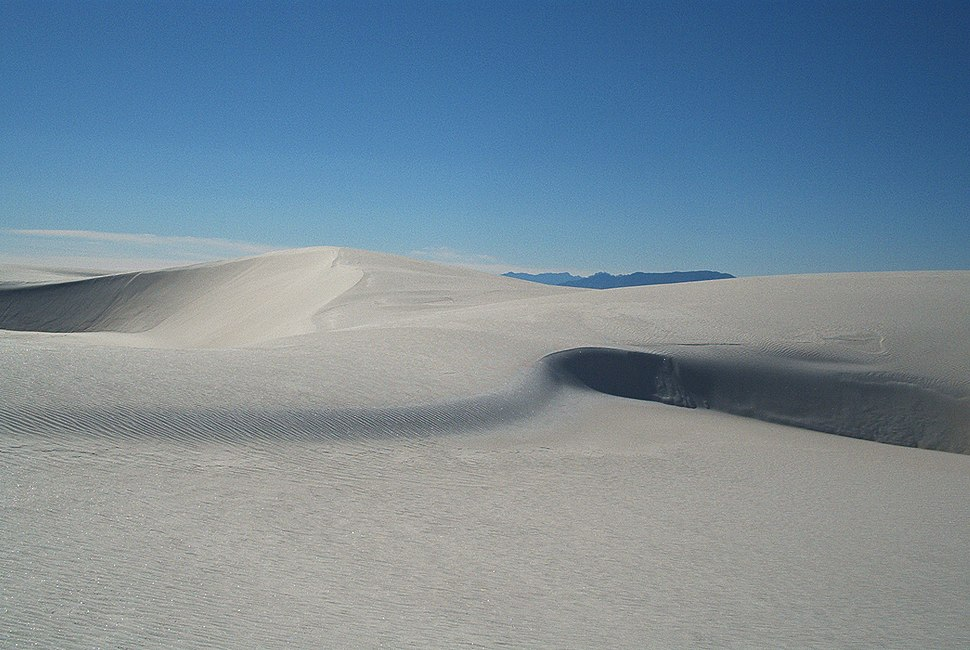 Dunes as White Sands NM