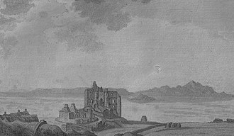 Dunure Castle - The castle in 1789