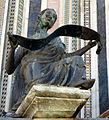 Duomo di orvieto, facciata, simboli degli evangelisti di lorenzo maitani, angelo di s. mattei 2.jpg