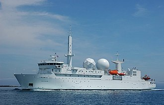 Electronic warfare support measures - French ship Dupuy de Lôme, specialised in SIGINT