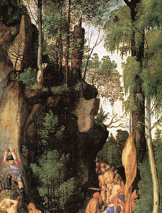 Martyrdom of the Ten Thousand - Detail of the forest.