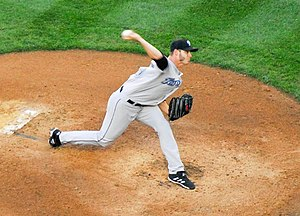 Toronto Blue Jays - Dustin McGowan pitching for the Blue Jays in 2007