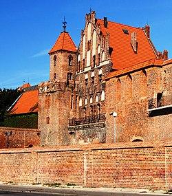 Dwór Mieszczański z Basztą Wartownia, Toruń,