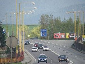 Cesta I/18 v peáži s I/59 v Ružomberku