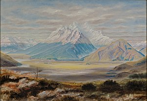 "Mount Earnslaw - ""Mount Earnslaw"" by John Turnbull Thomson (1883)"