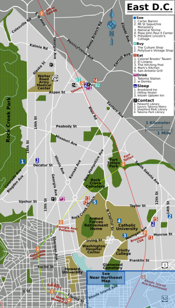 Petworth Dc Map.Washington D C Brookland Petworth Takoma Travel Guide At Wikivoyage