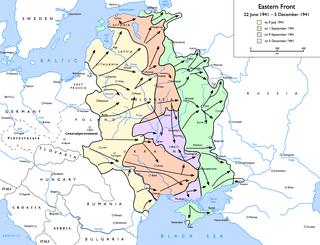 Οι γερμανικές κτήσεις στο πρώτο εξάμηνο του Μεγάλου Πατριωτικού Πολέμου.