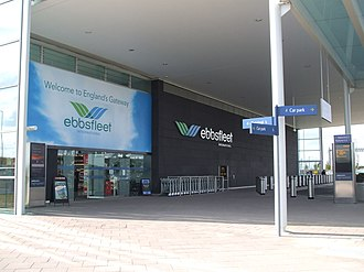 Ebbsfleet International railway station - Image: Ebbsfleet International stn eastern entrance