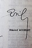 Signature de Edmond Michelet