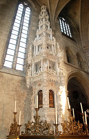 Cornelis Floris de Vriendt - Tabernacle in the St. Leonard's Church, Zoutleeuw