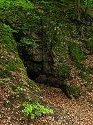 """Eingang zur """" Räuberhöhle"""" im Landschaftsschutzgebiet Zschonergrund.JPG"""