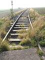 Eisenbahnstrecke zum ehemaligen BW-Depot, Blick nach Süd-Westen, am Horizont der Hürtgenwald, 24.10.2012 - panoramio.jpg