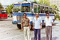 Elbasan, Albania, bus drivers in 1995.jpg