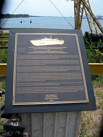 Electric Launch Company - Plaque in Bayonne commemorates Elco