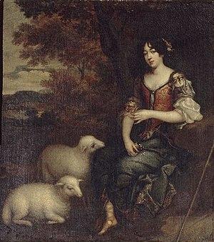 Élisabeth Sophie Chéron - Portrait of Mme Deshoulières, attributed to Élisabeth Chéron