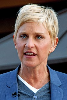 Ellen DeGeneres - the cool, friendly, fun,  tv-personality, actress, comedian,   with German, French, Irish, Dutch,  roots in 2020