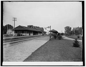 Elmhurst, Illinois - Elmhurst Station ca. 1890