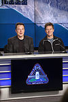 Elon Musk and Hans Koenigsmann at the SpaceX CRS-8 post-launch press conference (26223624532).jpg