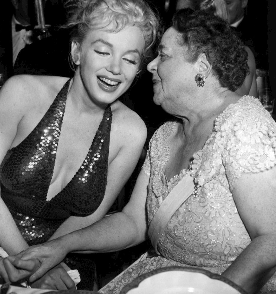 Elsa Maxwell Marilyn Monroe April in Paris Ball 1957