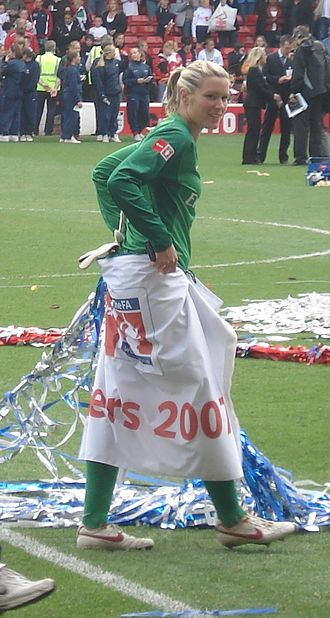 Emma Byrne - Byrne after the 2007 FA Women's Cup final