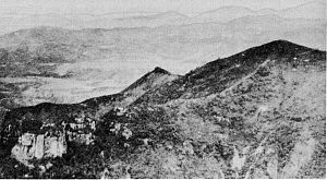 "Battle of Battle Mountain - The ""rocky crags"" position, which remained in North Korean hands during most of the battle."
