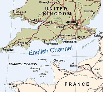 Alderney - English Channel with Alderney in the middle
