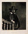 Ephraim Bonus. Reproduction of etching after Rembrandt. Wellcome V0000661.jpg