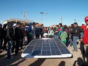 Solar power in Chile - Solar car developed by the University of Chile