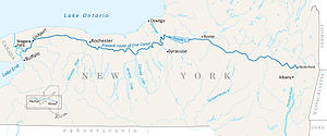 Erie Canal - Current Route of the Erie Canal