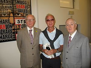 Gilbert & George - with the artist Erik Pevernagie (centre) (2012)