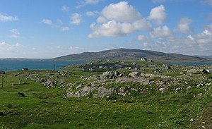 Eriskay - Eriskay, looking north towards Easabhal on South Uist