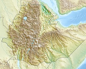 Map showing the location of Bale Mountains National Park