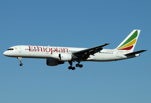 Ethiopian Airlines Boeing 757-200 ET-AKF FCO 2005-8-6.png
