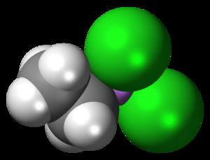 Ethyldichloroarsine - Image: Ethyldichloroarsine 3D