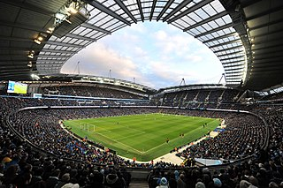 City of Manchester Stadium Home ground of Manchester City Football Club in England
