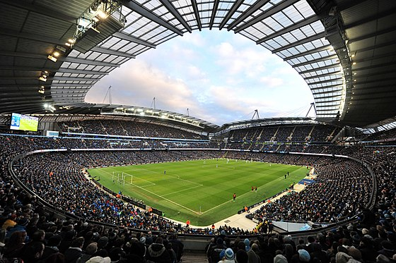 The Etihad Stadium, home to Premier League club Manchester City FC and host stadium for the 2002 Commonwealth Games Etihad Stadium.jpg