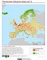 Europe The Human Influence Index, version 2 (5458038518).jpg