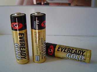 Eveready Battery Company - Image: Eveready Gold AA batteries