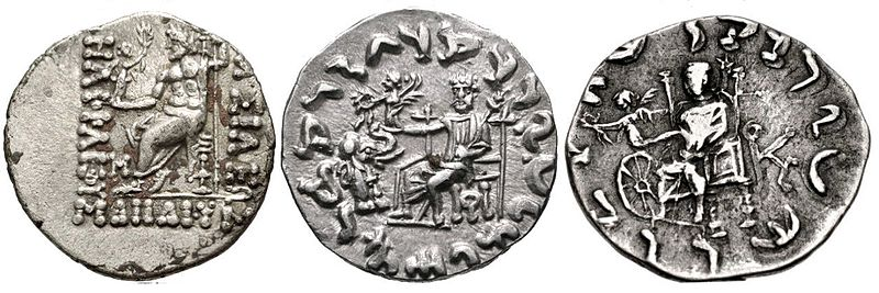 Evolution of Zeus Nikephoros on Indo-Greek coinage.jpg