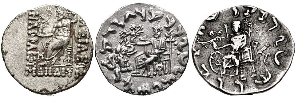 Evolution of Zeus Nikephoros on Indo-Greek coinage