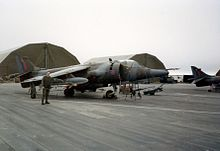 Harrier at an airfield