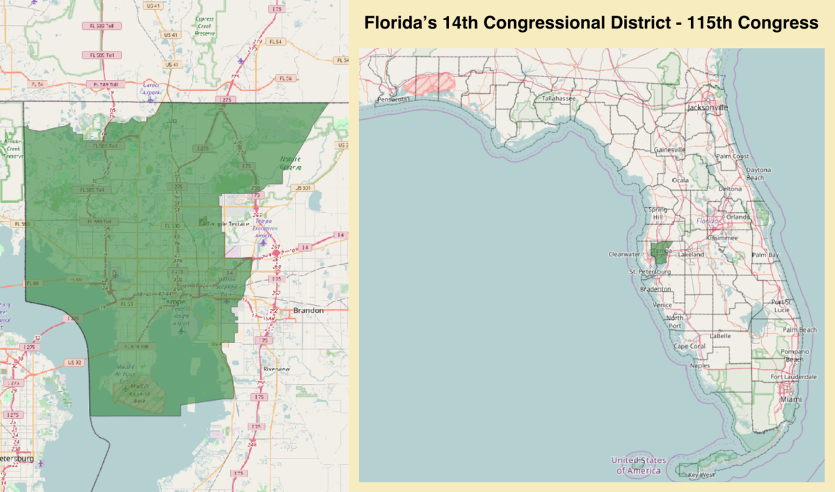 Floridas Th Congressional District Wikipedia - Map of florida us congressional districts