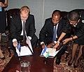 FM Urmas Paet and FM of Lesotho Mohlabi Kenneth Tsekoa (New York 27th September 2012) (8032336195).jpg