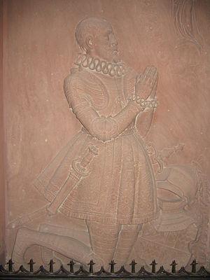Conrad I, Duke of Zähringen -  Conrad I, relief by Franz Xaver Anton Hauser in the Freiburg Minster