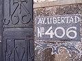 Facade with Av. Libertad Street Sign - Atlixco - Puebla - Mexico (20259690260).jpg